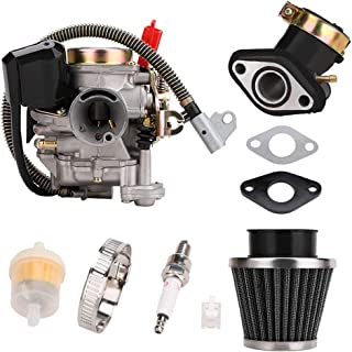 CPKL0006 Carburetor Assembly Kit with Air/Fuel Filter Gaskets for JONWAY JMSTAR ROKETA SUNL TANK PEACE TAOTAO DONGFANG KAZUMA BMS JCL Scooters ATVs for GY6 49CC 50CC 80CC 4 Stroke Engines