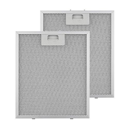 Klarstein Aluminium-Fettfilter - Austauschfilter, Ersatzfilter, 2 x Filter, Klickverschluss, 27,1 x 31,8 x 0,9 cm, ca. 180g, Aluminium, für Klarstein Finessa Dunstabzugshauben, silber
