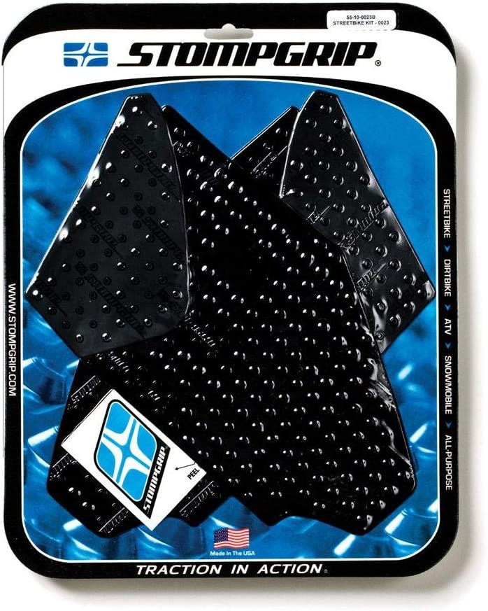 Stompgrip Motorcycle Traction Pads Black CBR10 Complete Free Shipping Honda for 12-16 Columbus Mall