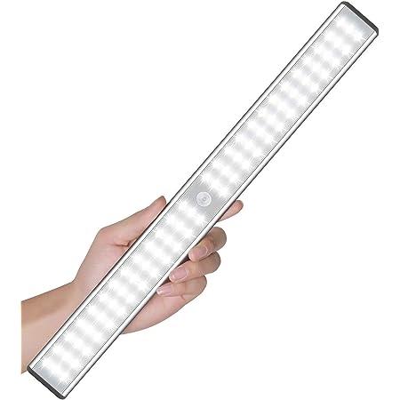 Sous les lumières du cabinet, Éclairage de placard avec détecteur de mouvement de 78 LED, Éclairages de placard d'armoire rechargeable sans fil, Éclairage de nuit magnétique autocollant, partout
