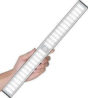 Sous les lumières du cabinet, Éclairage de placard avec détecteur de mouvement de 78 LED, Éclairages de placard d'armoire ...