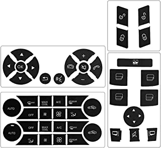 Steering Wheel & Window Switch & Door Lock Switch & AC Button Stickers for 2008 2009 2010 2011 2012 2013 2014 Benz