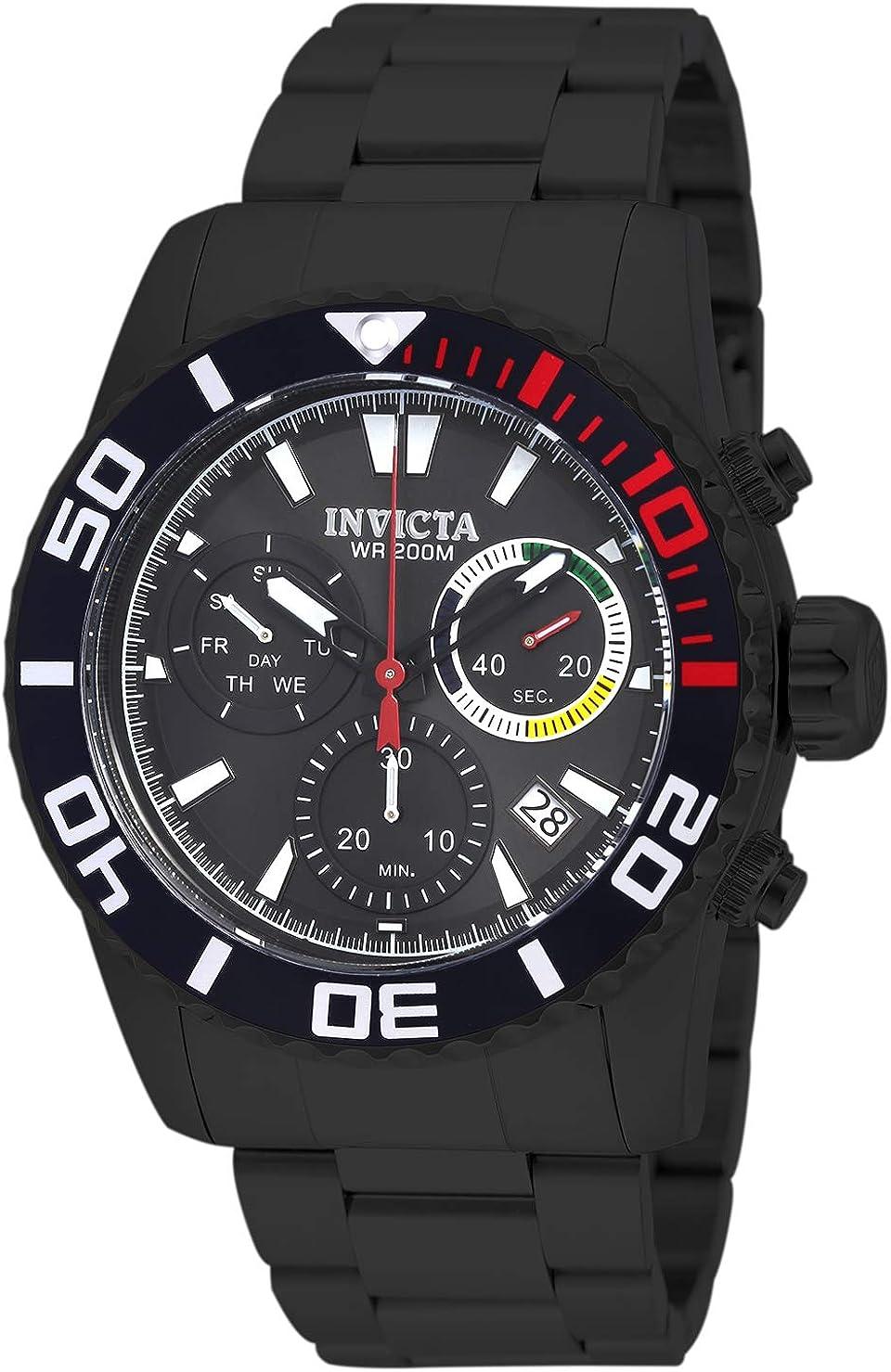 Invicta Reloj para hombre 18940 Pro Diver analógico, cuarzo suizo, color negro