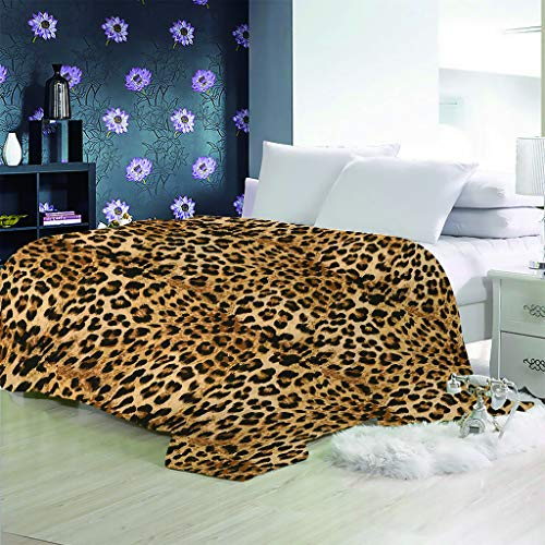 Xmydeshoop Manta De Grano De Leopardo 3D Manta Multifuncional