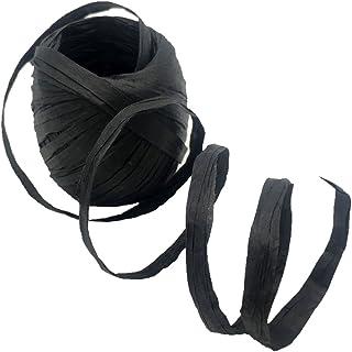 Homyl 20m Naturbast Raffiabast Bast Bindebast Papierschnur Geschenkpapier Bänder Papierkordel zum basteln dekorieren - schwarz