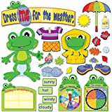 Multi-Purpose Learning Tool: Carson Dellosa's Funky Frog Weather Bulletin Board Set uses bright and engaging learning tools to create colorful, interactive décor that helps teach students about seasons, the weather, and more Dimensions: The 82-piece ...