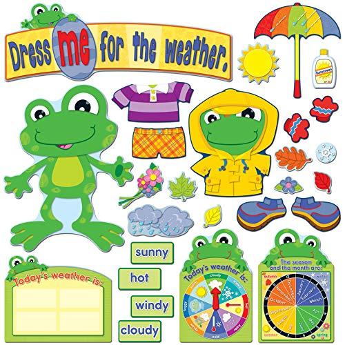 Carson Dellosa Funky Frog Weather Bulletin Board Set (110208) -  Carson-Dellosa