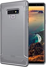 Galaxy Note 9 Case, TUDIA [Linn] Ultra Slim Lightweight Carbon Fiber Design Heavy Grip TPU Bumper Protection with Clicky Buttons Case Cover for Samsung Galaxy Note 9 (Gray)
