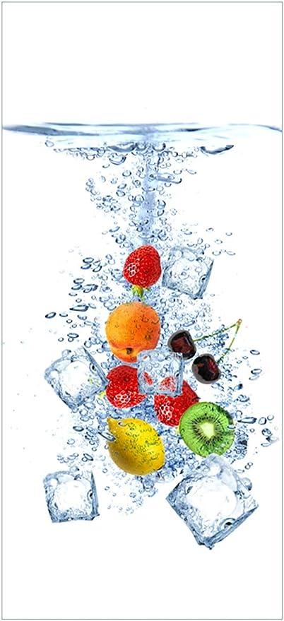 Wallario Selbstklebende Türtapete Obst Eiswürfel Mix Im Wasser Mit Weißem Hintergrund 93 X 205 Cm In Premium Qualität Abwischbar Brillante Farben Rückstandsfrei Zu Entfernen Küche Haushalt