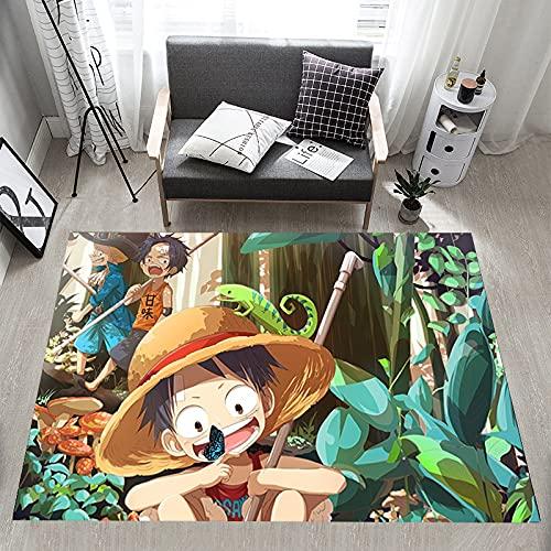 ZZXC Tapis Rectangulaire One Piece Route Chambre Salon Enfants Chambre Tapis De Jeu Anime Dessin Animé Volant Cristal Velours Moderne Ménage Tapis Antidérapant