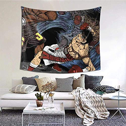 Kamogawa Boxing Gym Hajime No Ippo 9 Tapestry Wall Hanging Anime Tapestries Wall Tapestry Wall Art Home Decor for Living Room Bedroom Dorm (51' X 60')