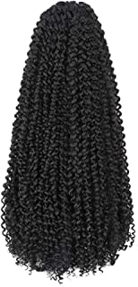 Toyotress Passion Twist Hair - 22 Inch 7packs Jet Black Water Wave Crochet Braids Synthetic Braiding Hair Extensions (22 I...
