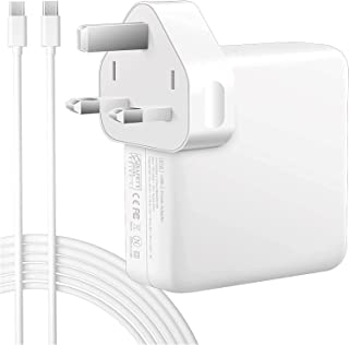 """HRX (87W) USB-C Power Adapter Charger With 1M USB-C Cable, Compatible With (MacBook Pro 12''/13""""/15'') (2016/2017/2018/201..."""