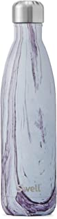 S'well Vacuum Insulated Stainless Steel Water Bottle, 25 oz, Lily Wood (Renewed)