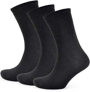 Calcetines unisex para niño, negro, azul marino y gris, 9 pares