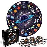 O-Kinee Redondo Puzzle, 1000 Piezas Rompecabezas Redondo, Puzzle Adultos, Puzzle Creativo, Rompecabezas para Niños, Rompecabezas Circular Juguete Intelectual Desafío Intelectual Juegos (Espacio)