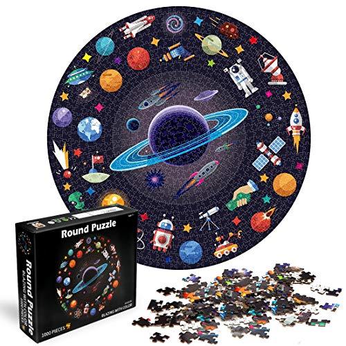 O-Kinee Runde Puzzle, 1000 Teile Puzzle Star Wars, Herausforderung Puzzle, Legespiel Puzzle, Klassische Puzzles, Geschicklichkeitsspiel für die Ganze Familie