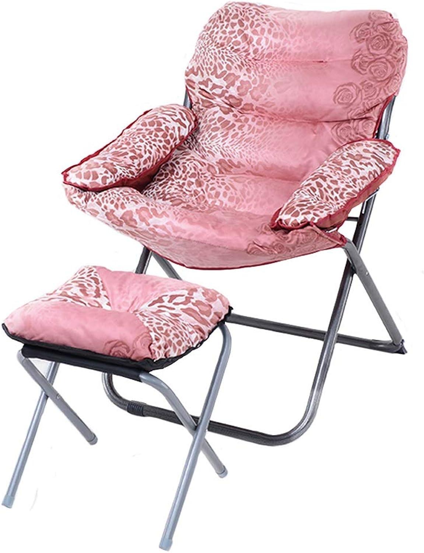 Faule Couch Creative Lazy Couch Einzelne Einzelne Einzelne Verstellbare Rückenlehne Lounge Chair mit Hocker, Faltbarer Gaming Couch Chair, Kurzes Haar (Farbe   Burgundy Print) B07L8HCK3V | Sehr gute Qualität  f30ca1
