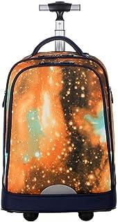 NSHUN Slim Travel Trolley Case, Expandable Water Resistant Business Computer Bag, Anti-Theft Durable Daypack College School Bookbag for Women & Men (Color : Orange)