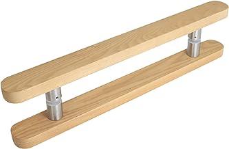 Hoge Kwaliteit Massief Houten Deurklink - Glazen Deurklink, Home Houten Deur/Staldeur/Metalen Deur Schuifdeur Handgreep, 3...