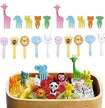10 St/ück Obst Picks Lebensmittel Gabeln aus Kunststoff 3D-Cartoon-Party-Kuchen-Zahnstocher reizenden Tier-Dessert Gabel Dekorative Accessoire