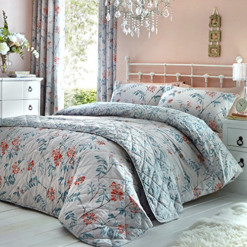 DREAMS AND DRAPES Marldon Parure pour Couette 52% Polyester, 48% Coton, Gris, Super King