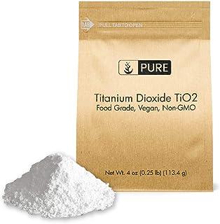 Titanium Dioxide TiO2 (4 oz.) by Pure Organic Ingredients, Eco-Friendly Packaging, Non-Nano, Food & USP Grade, Vegan, Non-GMO