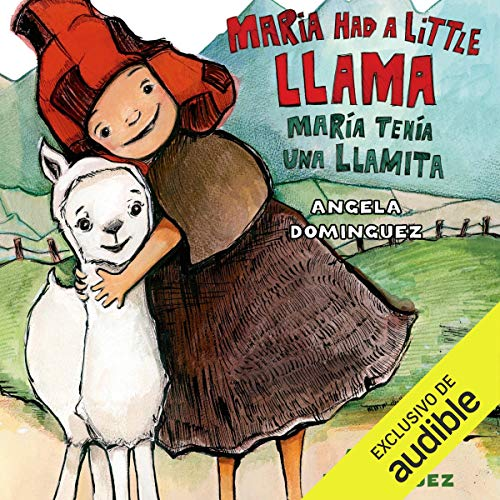 Diseño de la portada del título Maria Had a Little Llama / María Tenía Una Llamita