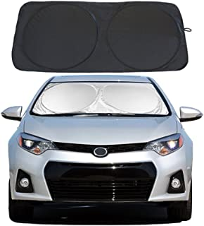 YiDee Windshield Sun Shade Car Window Shade UV Reflector Keeps Vehicle Cool Folding Sun Visor Heat and Sun Reflector (Standard 59 x 31.5 inches)