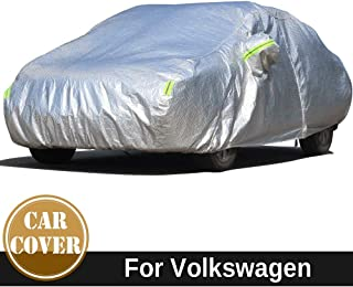 車のカバー防水コットン車のカバー屋外の太陽雪あられ雨のほこりを保護するためにvwフォックスボラキャディサジタロポロのための防水厚カバー (色 : For Volkswagen Bora)