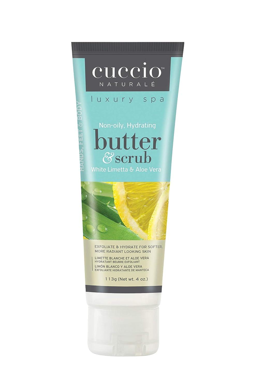 に付ける静脈役立つクシオ(CUCCIO) バタースクラブ チューブ ホワイトライム&アロエベラ 113g