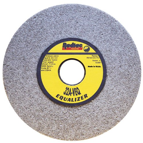Radiac Abrasive RAD-A329676 Light-Stock Removal Straight Surface Grinding Wheel 8 Inch x 1/2 Inch x 1 1/4 Inch, 3