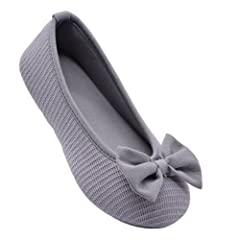 a874be29763c Wishcotton Women s Comfortable Memory Foam Ballerina Slippers .