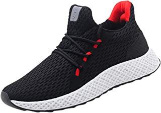 Men's Lightweight Running Shoes Fashion Hand-Woven Breathable Sneakers