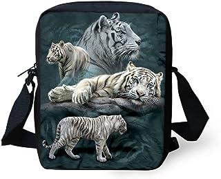 2cddb329a89d HUGSIDEA , Cabas pour femme petit Blanc tigre petit