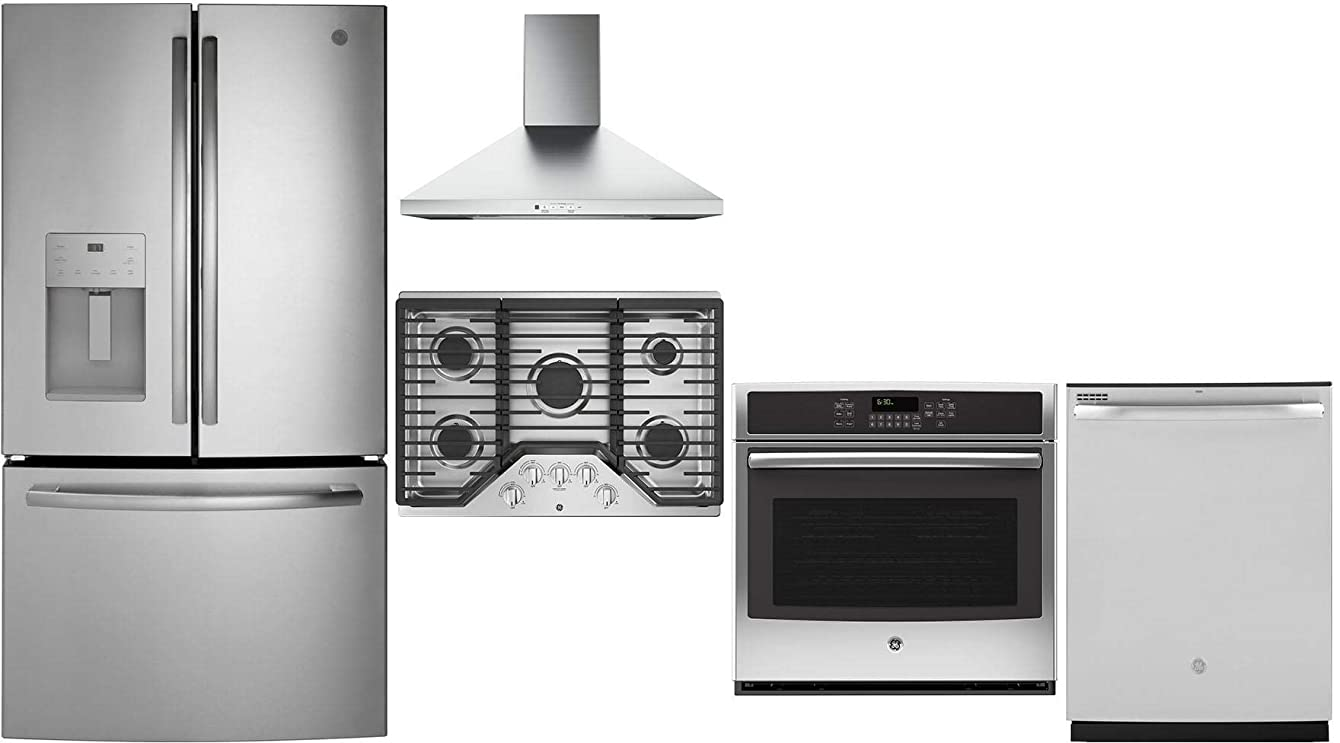 GE 5 Pcs Kitchen Package with GFE26JSMSS 36