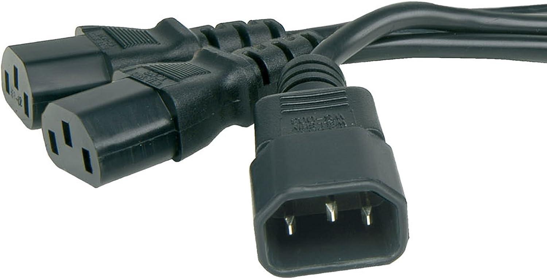 Iec Kabelverteiler Y Adapter Kabel C14 Stecker Zum 2 X Elektronik