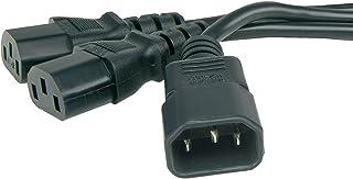 IEC Kabelverteiler Y Adapter Kabel C14 Stecker Zum 2 x C13 Buchse Y Anschlusskabel 1 m 50cm+50cm [1 Meter/1m (0,5m+0,5m)]