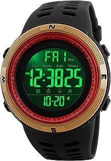 Men's Digital Sports Watch Waterproof Military Stopwatch Countdown Auto Date Alarm