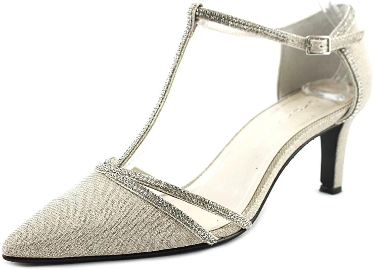 Caparros Womens Dixie Pointed Toe Ankle Strap Classic Pumps