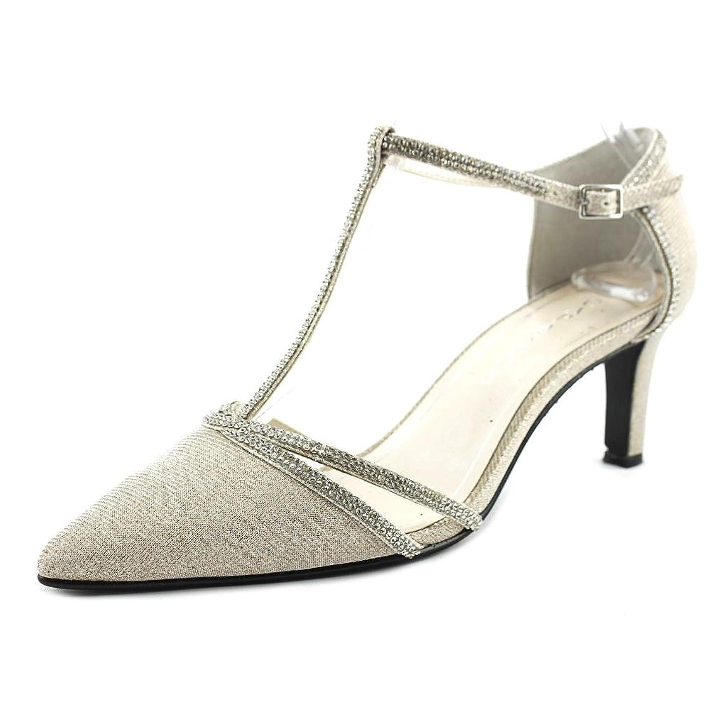 借りているホイール方程式[Caparros] Womens dixie Pointed Toe Ankle Strap Classic Pumps [並行輸入品]