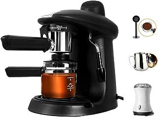 エスプレッソマシン、5バール圧力ポンプ、730Wコーヒーメーカー250ml、エスプレッシモバリスタスタイルのコーヒーマシン、ブラック