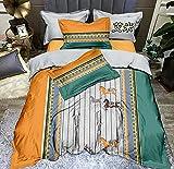 Exlcellexngce Funda De EdredóN 90,Estilo Europeo MáQuina De Seda Lavable Silky Transpirable Duvet Duvet Cubierte Doble Cama Doble One Pillowcase H_1,8 M De Cama (4pcs)