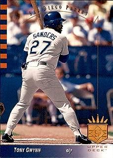 Tony Gwynn RIP HOF San Diego Padres wearing Pitcher Scott Sanders Jersey 1993 SP #167 MLB Baseball Card