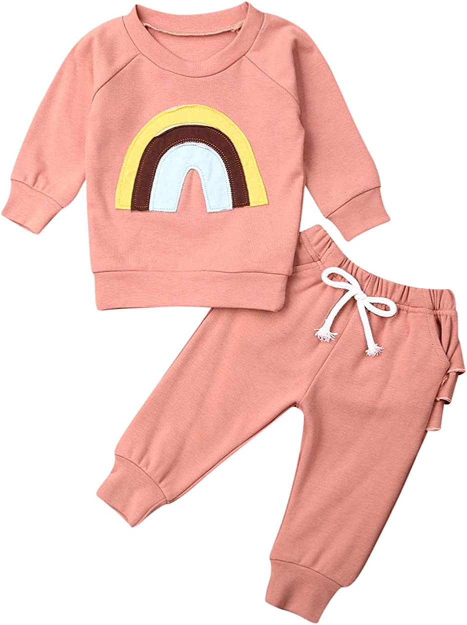 Baby Girl Clothes Long Sleeve T-Shirts Top+Long Pants 2Pcs Fall Winter Spring Clothes Outfits Set