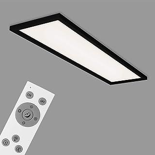 Briloner Leuchten Lámpara LED, Techo Regulable, Remoto Incluido, Control de Temperatura, función de luz Nocturna, Temporizador, 36 vatios, 3.800 lúmenes, Blanco-Negro