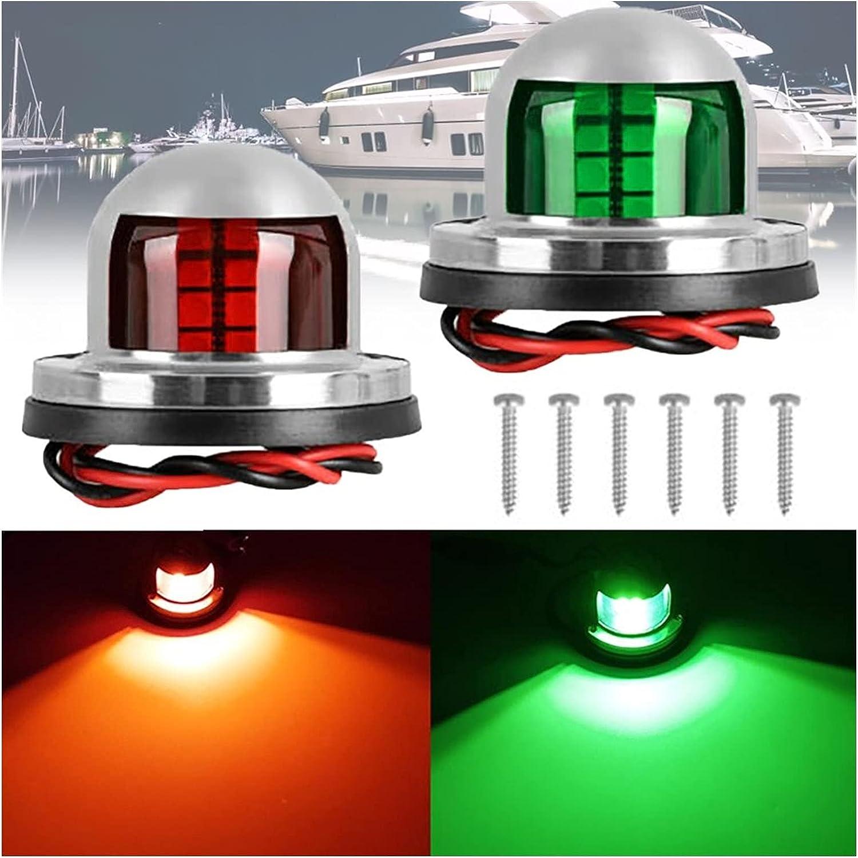 Max 71% OFF MINGMIN-DZ Boat Navigation Lights 2Pcs Set Light 12V Stainl Omaha Mall