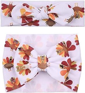 عصابة رأس بتصميم ديك رومي عيد الشكر للفتيات الرضع من عصابة رأس اكسسوار JHT01