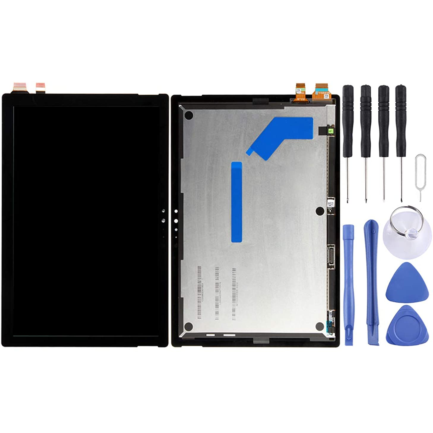Huamentallice LCD Screen Repaire&Spare Parts LCD Screen and Digitizer Full Assembly for Microsoft Surface Pro 5 1796 LP123WQ1(SP)(A2) 12.3 inch (Black) (Color : Black)