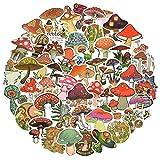 50pcs Mushroom Stickers Pack for Adults Teens Kids Vinyl Cute Waterproof Sticker for Note Book Water Bottle Skateboard Decals